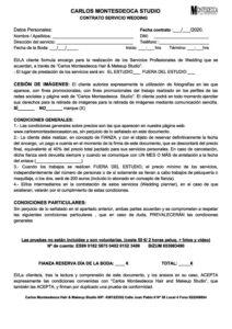 Contrato Carlos Montesdeoca Novias